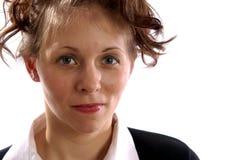 公务便装女性模型预科生 免版税库存照片
