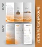 公司业务三部合成的小册子 免版税库存照片