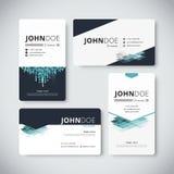 公司业务卡片模板 名片设计 向量 免版税库存照片