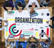 组织公司业务承诺队概念 库存照片