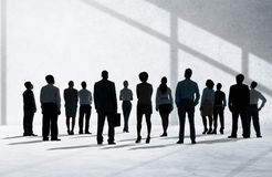 公司业务查寻概念的队志向 免版税库存照片