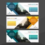 公司业务横幅模板,水平的广告业横幅布局模板平的设计集合,干净的抽象盖子 向量例证