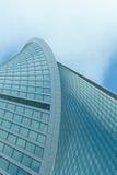 公司业务的摩天大楼、标志和财务 免版税库存照片