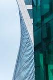 公司业务的摩天大楼、标志和财务 免版税库存图片