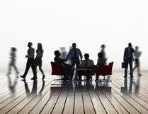 公司业务队讨论合作概念 免版税库存图片