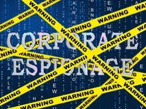 公司乱砍第2个例证的间谍活动隐蔽网络 皇族释放例证