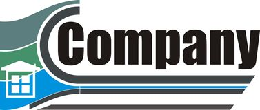 公司企业商标 免版税库存照片