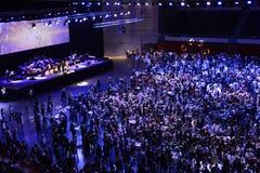 公司党和音乐会,成功,工作者 图库摄影