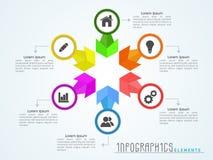 公司区段的时髦的企业infographics 免版税图库摄影