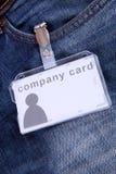 公司卡片 免版税库存图片