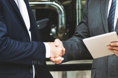 公司商人成交握手概念 免版税图库摄影
