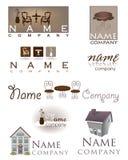 家庭设计家具商标 库存照片