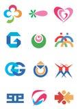公司图标符号 向量例证