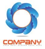公司圆蓝色商标行动概念 图库摄影
