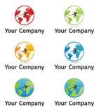公司地球徽标 库存例证