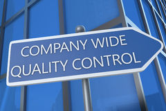 公司宽质量管理 免版税图库摄影