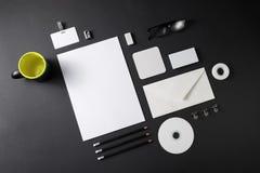 公司文具模板 图库摄影