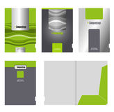 公司文件夹、盖子模板和切口 免版税库存图片