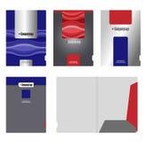 公司文件夹、盖子模板和切口 免版税库存照片
