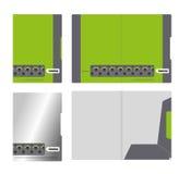 公司文件夹、盖子模板和切口 库存照片