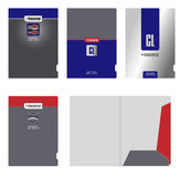 公司文件夹、盖子模板和切口 图库摄影