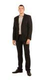 公司服装的年轻人微笑的俊男 免版税库存图片