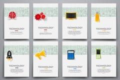 公司本体传染媒介模板设置了与乱画技术题材 向量例证