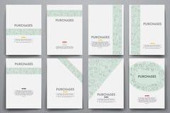 公司本体传染媒介模板设置了与乱画销售题材 免版税图库摄影