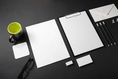 公司本体更多我的投资组合设置模板 免版税图库摄影