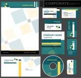 公司本体模板。 免版税库存图片