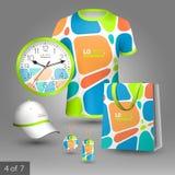 公司本体模板和增进礼物 向量例证