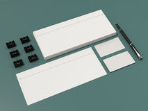 公司本体模板设计文具 免版税图库摄影