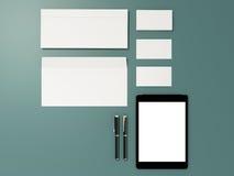 公司本体模板设计文具 免版税库存照片