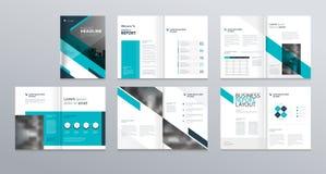 公司概况的,年终报告,小册子,飞行物,介绍,传单,杂志,书设计版面模板 向量例证