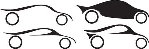 公司汽车和汽车竞赛的商标想法 皇族释放例证