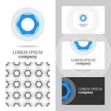 公司的企业商标 传染媒介编辑的多角形元素 库存图片