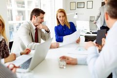 公司的成功的女实业家CEO 免版税图库摄影