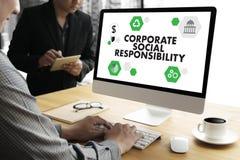 公司的社会责任生态解答新鲜豪华nat 免版税库存图片