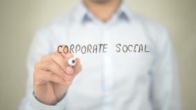 公司的社会责任,在透明墙壁上的人文字 影视素材