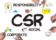 公司的社会责任CSR和持续力Respon 库存照片