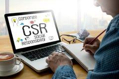 公司的社会责任CSR和持续力Respon 库存图片