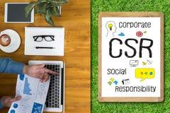 公司的社会责任CSR和持续力Respon 免版税库存照片