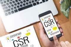 公司的社会责任CSR和持续力Respon 图库摄影