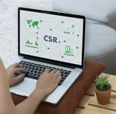 公司的社会责任CSR和持续力Responsib 免版税图库摄影
