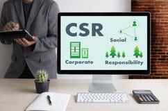 公司的社会责任CSR和持续力Responsib 库存图片