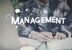 公司管理战略解答烙记的概念 图库摄影