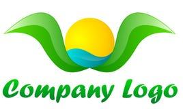 公司绿色徽标旅游业 库存图片