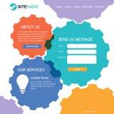 总公司网站模板 现代平的网络设计 五颜六色的吸收 免版税图库摄影