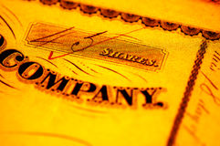公司股票 图库摄影