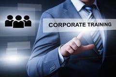 公司训练Webinar电子教学技能企业互联网技术概念 免版税图库摄影